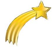 Schießender gelber Stern lizenzfreie abbildung