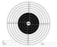 Schießenkennzeichen in den weißen und schwarzen Farben Lizenzfreies Stockfoto