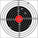 Schießenziel stock abbildung