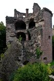 Schießpulverkontrollturm des Schlosses in Heidelberg Lizenzfreie Stockbilder