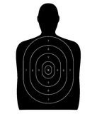 Schießstand - menschliches Ziel Lizenzfreies Stockbild