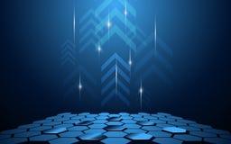 Schieben abstrakte Technologieinnovation des Vektors Hintergrund hoch Stockbilder