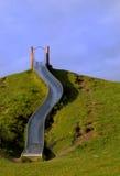 Schieben Sie über den Hügel stockfoto