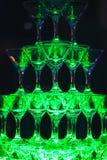 Schieben Sie Champagne Glasses Stockbilder