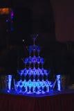 Schieben Sie Champagne Glasses Stockfotografie