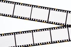 Schieben Sie Filmstreifen mit leeren Feldern Stockfoto