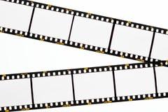 Schieben Sie Filmstreifen mit leeren Feldern Stockbild