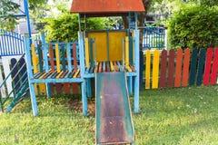 Schieben Sie in Spielplatz Lizenzfreies Stockfoto