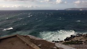 Schieben von Ansicht über die Gibraltar-Straße stock video footage