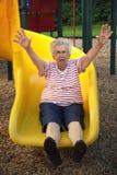 Schieben von Großmutter 4 Stockbild