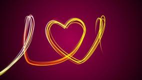 Schieber, die ein Herz von verschiedenen Farben in der Mitte des Schirmes auf einem rosa Hintergrund zeichnen stock footage