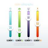 Schieber Infographic Lizenzfreie Stockfotos