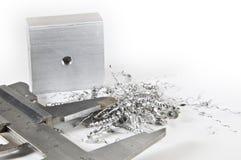 Schieber mit Aluminium und Ausschnitten Stockfotografie