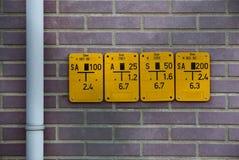 Schieber-Zeichen für Erdgas Stockbild