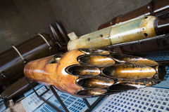 Schiefe Ansicht des Raketenwerferrohrs verwendet von der AMERIKANISCHEN Armee Lizenzfreie Stockfotografie