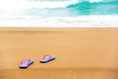 Schiefer im Sand Stockfotografie