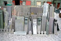 Schiefer-Stapelvorteile und -enden Stockfotografie