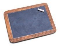 Schiefer-Tafel mit Kreide Stockbilder