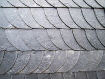 Schiefer tecture an einer Fassade Stockbilder