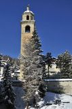 Schiefer Tower in St. Moritz Royalty Free Stock Photography