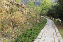 Schieferweg auf dem tianzhushan Berg Stockbild