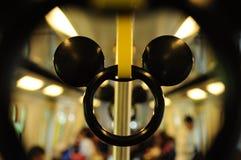 Schiene in der Disney-Land-Serie Stockfotos