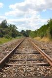 Schiene in der Landschaft Stockfotografie