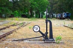 Schiene, die Mechanismus ablenkt Stockfotografie
