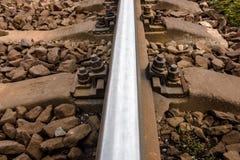 Schiene und Schienenbefestigung Lizenzfreies Stockfoto