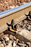 Schiene und Traversen Stockbilder