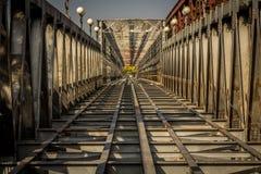 Schienenüberfahrt Stockfotos