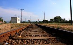 Schienenüberfahrt Stockfoto