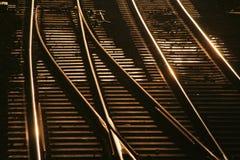 Schienen Stockbild