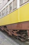 Schienen auf Stadt Stockfotografie