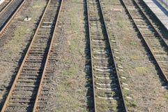 Schienen, Eisenbahn Stockbild