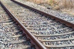 Schienen für die Eisenbahn Stockbilder