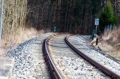 Schienen für die Eisenbahn Lizenzfreies Stockbild