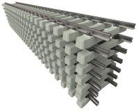 Schienen mit konkreten Lagerschwellen lizenzfreie stockfotos