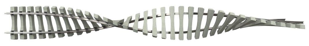 Schienen mit konkreten Lagerschwellen stockfotos