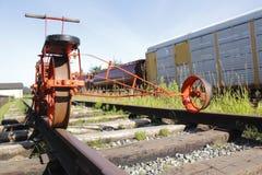 Schienen-Pumpe des erfahrenen Arbeiters Stockbilder