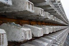 Schienen und Lagerschwellevergitterung Lizenzfreies Stockfoto