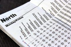 Schienen-Zeitplan Stockfoto