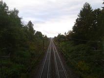 Schienen zu nirgendwo Lizenzfreies Stockfoto
