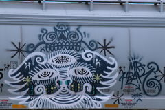 Schienenfahrzeug-Graffiti Lizenzfreie Stockfotos