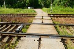 Schienenreise Stockfoto