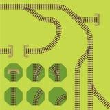 Schienensegmente Lizenzfreies Stockfoto