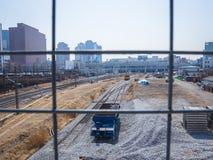 Schienenstation Seoul-Farbe stockfotos