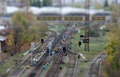 Schienenstraße Lizenzfreie Stockbilder