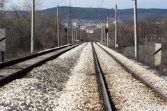 Schienenstraße Stockfotos