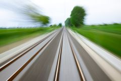 Schienenunschärfe Lizenzfreies Stockfoto
